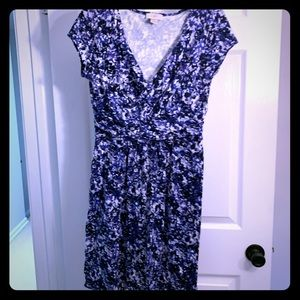 Blue & white cotton Loft dress